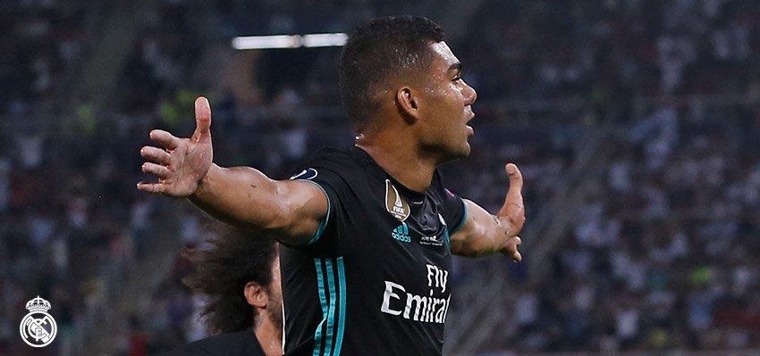 Gol pembuka dari Casemiro membuat Real Madrid lebih percaya diri