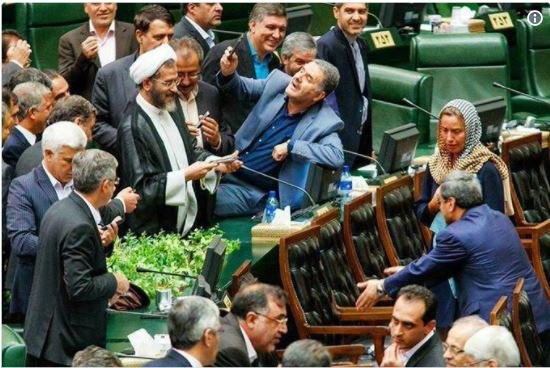 Iranian lawmakers are criticized for being overly excited to take a selfie with Mogherini while she was in Tehran. https://t.co/mtNIC4xwUx