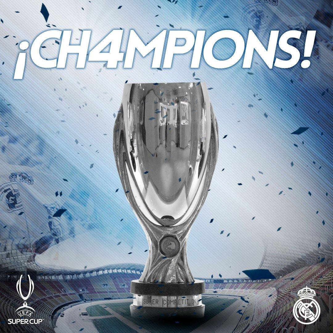 Supercoppa Europea al Real Madrid: Manchester United battuto 2-1 a Skopje in Macedonia