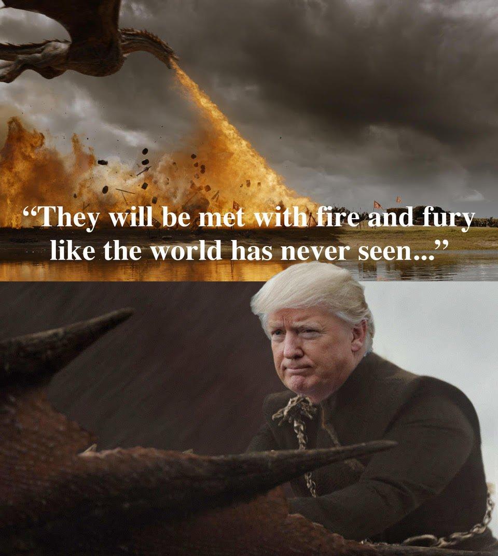No doubt which show Trump is a fan of. #FireAndFury https://t.co/Co07HPw5ih