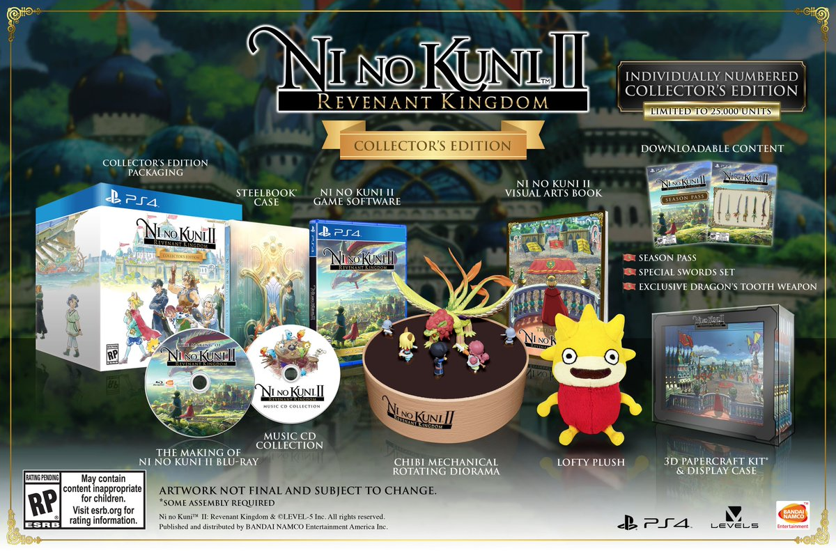 Bandai Namco Us On Twitter Pre Order The Ni No Kuni Ii Collector S Edition At The Bandai Namco Store And Get An Exclusive Physical Map Replica