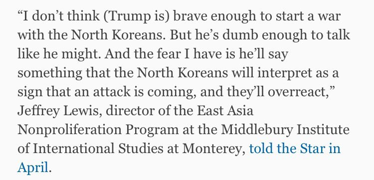 A quote from @ArmsControlWonk in April: https://t.co/9XpasaZXlj