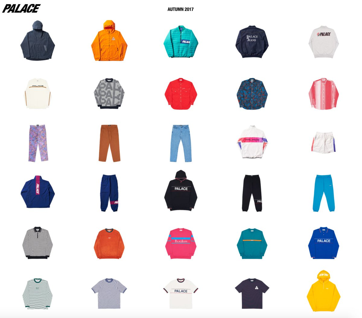 Palace Autumn 2017 Collection Drop  11 Am Est Gmt Range Https Www Palaceskateboards Com Range Autumn 2017