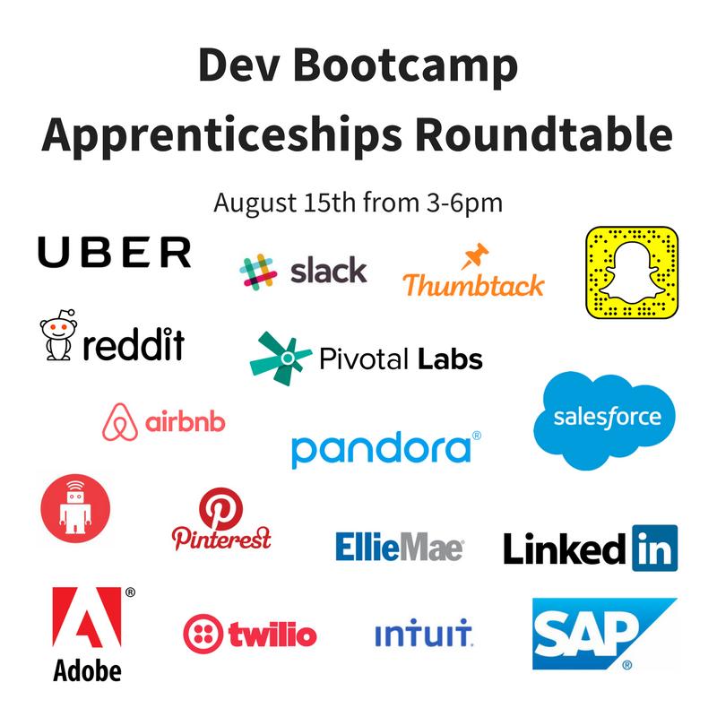 Apprenticeships are powerful, learn why. Thanks @devbootcamp for hosting! August 15 3-6PM 633 Folsom St #skillsgap #futureofwork @psb_dc https://t.co/RovYniy7GA