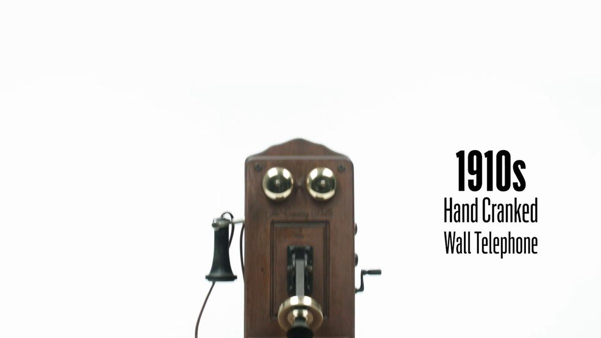 Evolution of the phone over 100 years: https://t.co/yIzvLQ0MtE