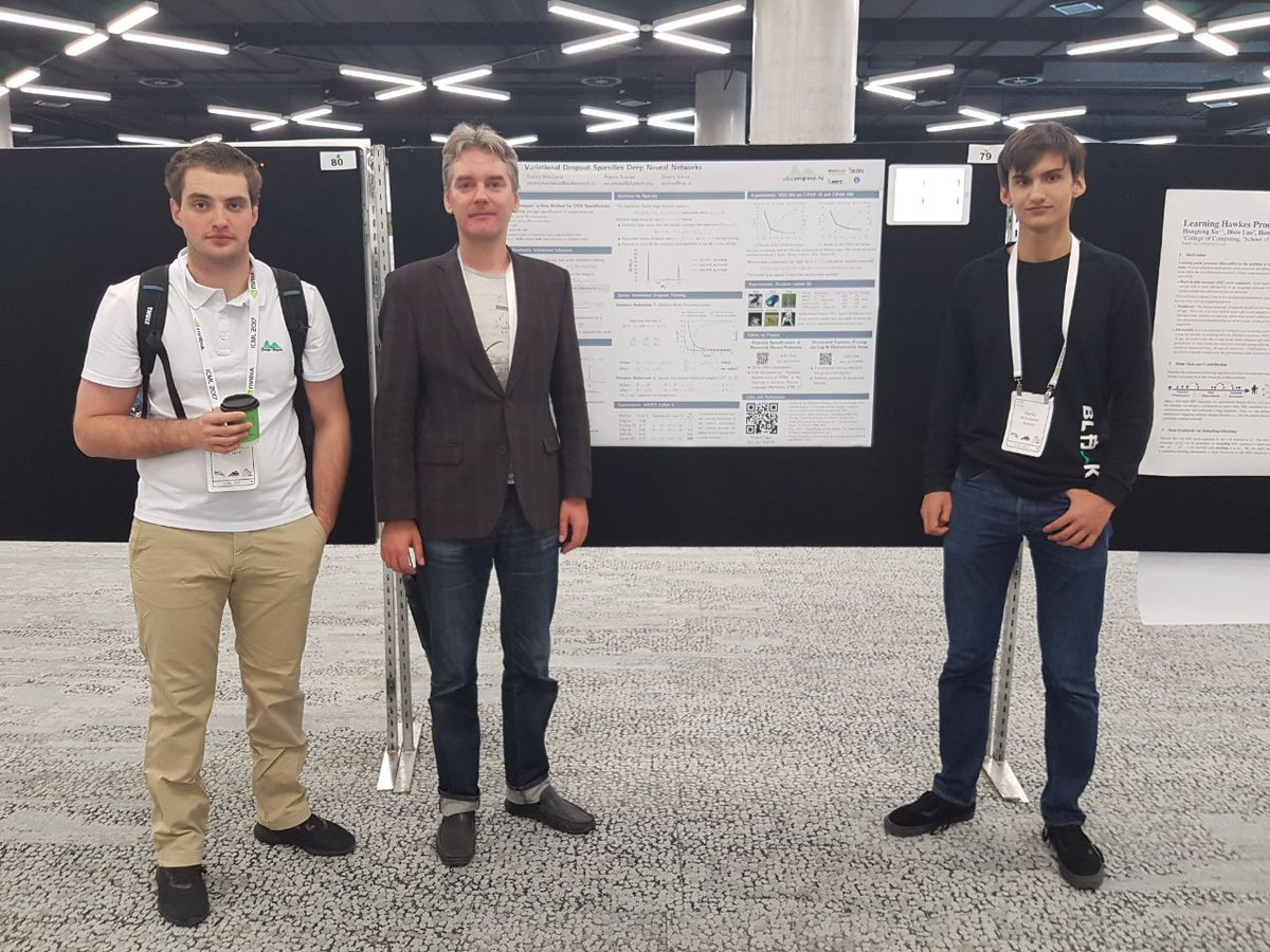 At #icml2017 and curious about how being bayesian helps deep learning? Come see our poster #79!