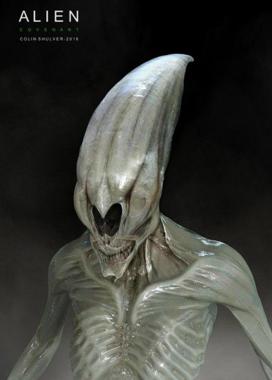Early adult #Neomorph #conceptart for #AlienCovenant.  #Alien #Prometheus2 #SciFiHorror #RidleyScott #Xenomorph #Scifi  Art by #ColinShulver <br>http://pic.twitter.com/nQ6RsVipY1