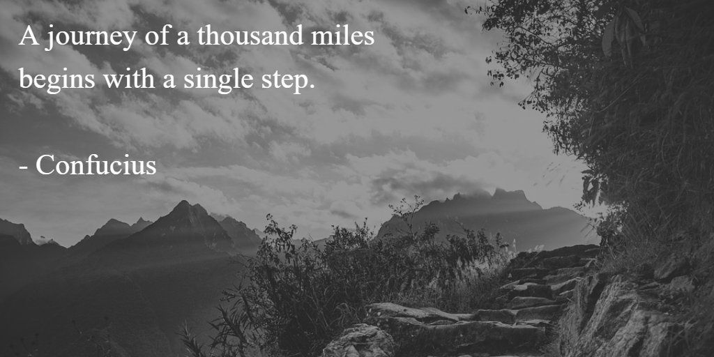 A journey of a thousand miles begins with a single step. - Confucius #quote #journey    http:// buff.ly/2ueg1c4  &nbsp;  <br>http://pic.twitter.com/G16t5I7sjq