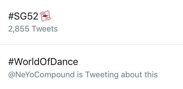 Let's go guys!!! #WorldofDance is #2 on WW Trending List!!!