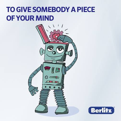 Monthly Saying  To give somebody a piece of your mind ถ้าเรียกง่ายๆ ก็ เหวี่ยง วีน  #Berlitz Monthly #Saying #speakwithconfidence<br>http://pic.twitter.com/c5ZsSyDqtr