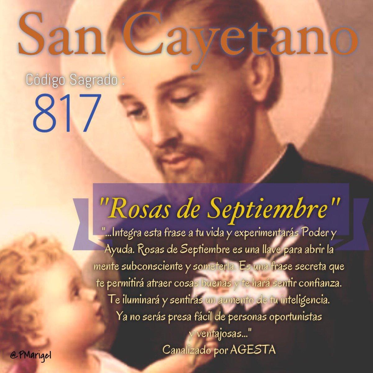 Códigos Sagrados On Twitter Mensaje De San Cayetano A