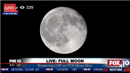 BEAUTIFUL MOON! Live look at the moon right now on FOX 10 News Now
