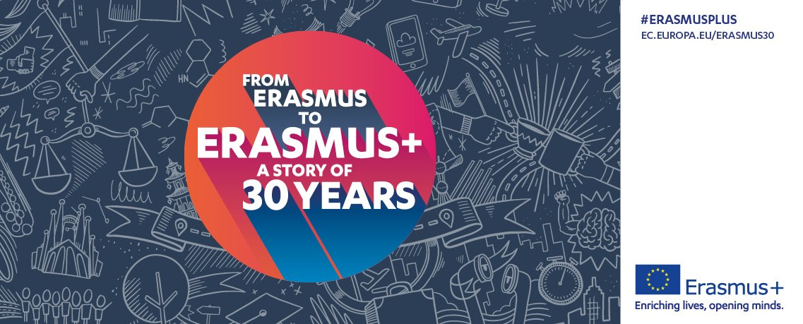 To celebrate the 30th anniversary of #ErasmusPlus, we want to hear your Erasmus+ story! Share it here:  https:// ec.europa.eu/programmes/era smus-plus/anniversary/share-your-story_en &nbsp; … <br>http://pic.twitter.com/bqToMV6M2v
