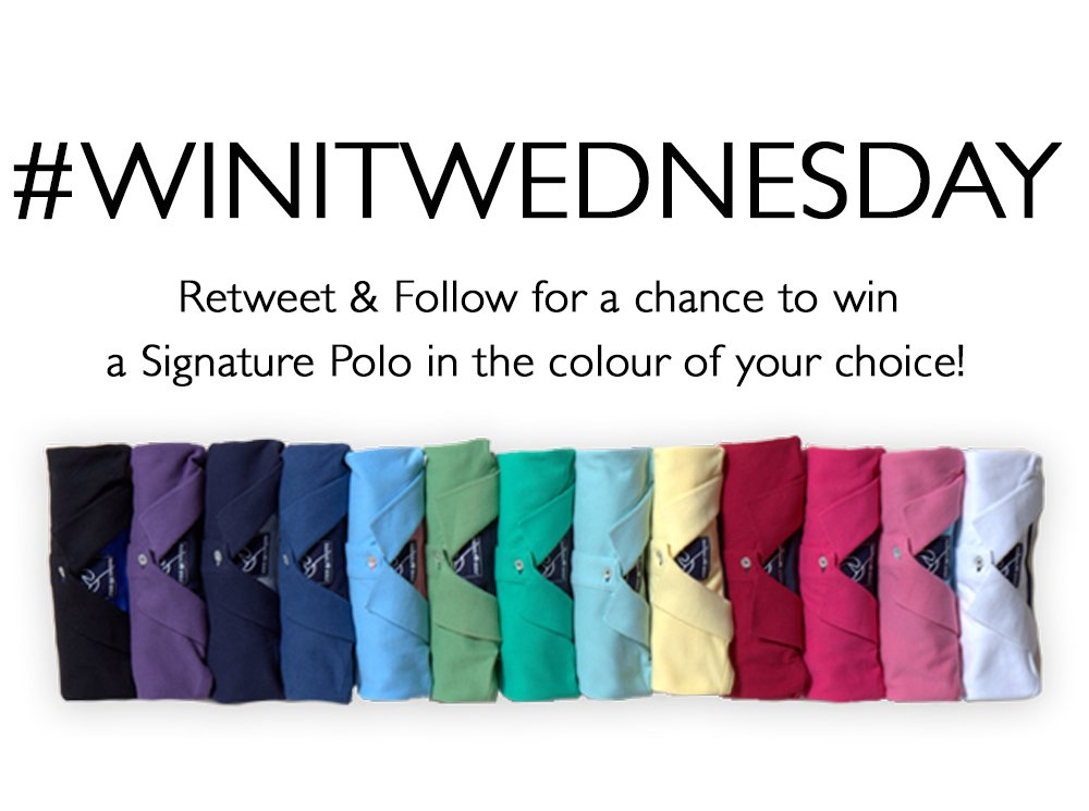 We're back with another Signature Polo to giveaway! Just follow and retweet to enter #WINITWEDNESDAY #giveaway https://t.co/YJF7k6Au0Q