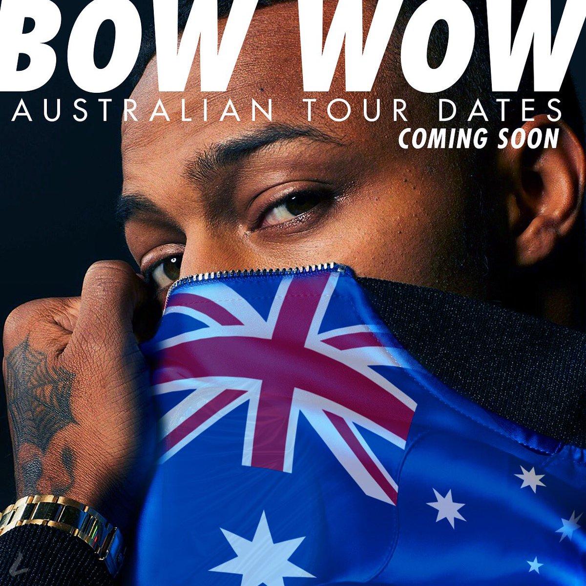 Australia get ready I&#39;m on the way August 25th - September 25th #Bowwow #RnbFridays<br>http://pic.twitter.com/U9YRnltxSF