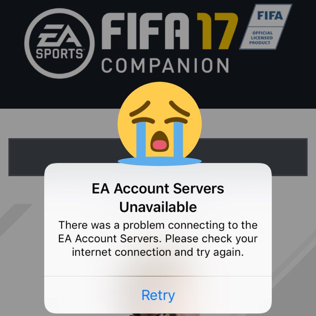 ea account servers unavailable