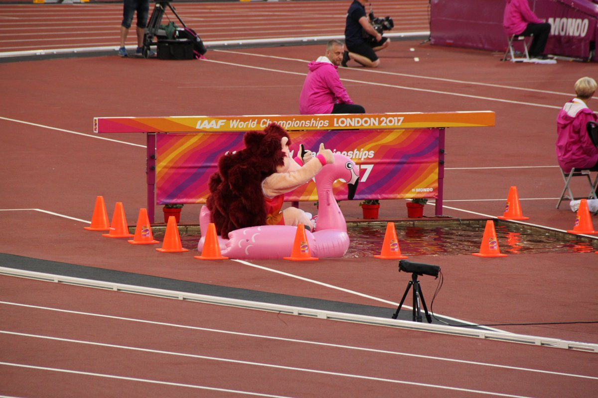 whoever's inside the Hero the Hedgehog mascot suit is a legend #herothehedgehog #IAAFworlds https://t.co/wL0v8gcd5Y