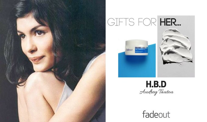 Happy Birthday to the gorgeous Audrey Tautou  Shop now & save 25% >>