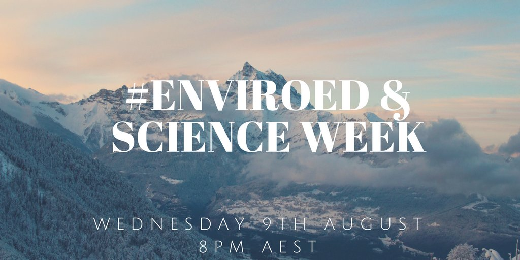 Welcome to the #enviroed chat for 9/08/17  Hosted by @vivianharris45 and @ChrisVella2 https://t.co/WSp02z3FFH