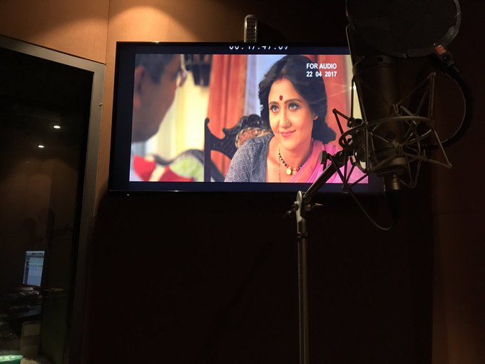 When you see yourself & you know you've done the job right 😬😍💪🏼There you go Shinjini❤️ #dubbing #michael #thisnovember #release @satrajits https://t.co/3LiVukhbZQ