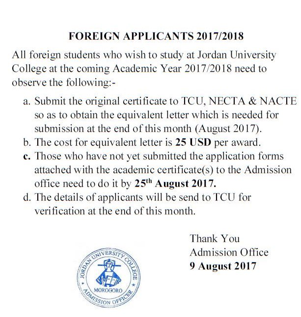 Procedures for application for degree programs of holders of foreign certificates #JUCO #Morogoro #education #admission #GainWithXtianDela<br>http://pic.twitter.com/Di2dDb4UfH
