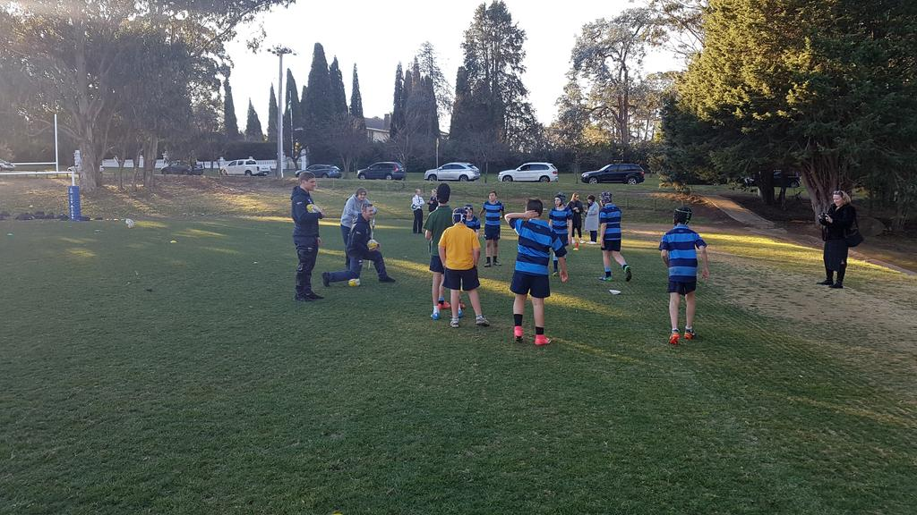 Thanks to @BrumbiesRugby again for another terrific development & training session, this time with our u12s!