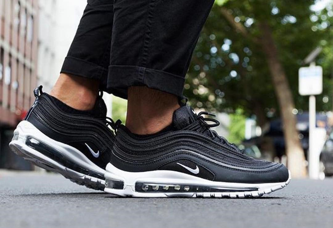 ... Air Max 97 is back in most sizes at Foot Locker UK https    thesolesupplier.co.uk release-dates nike air-max-97 nike-air-max-97-black- white-921826-001  ... 3bde6d4af1e9