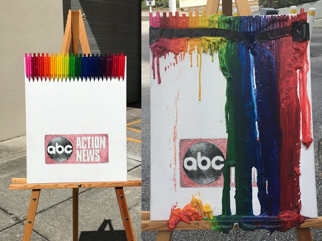 How to make your own melted crayon art in the summer heat https://t.co/BpElzRznjV