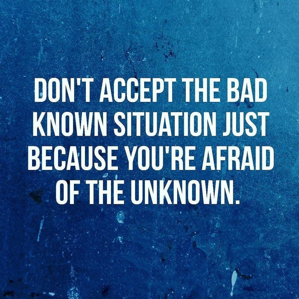 Don&#39;t accept the bad known situation just because you are afraid of the unknown. . . #ambition #business #entrepre…  http:// ift.tt/2uFXQZF  &nbsp;  <br>http://pic.twitter.com/Wi6l0JuZwt