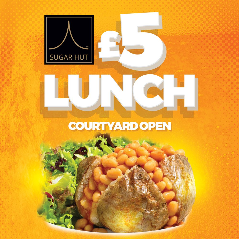 Lunch is now being served until 5pm.  Enjoy Jacket Potatoes or Ciabatta from £5! https://t.co/BZDAjDdKWm