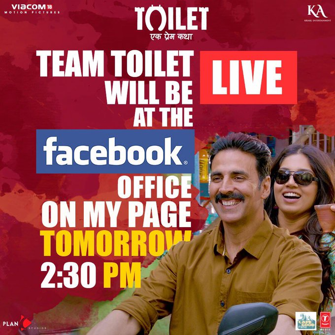 .@psbhumi and I will be LIVE from the Facebook office tomorrow at 2.30 pm on https://t.co/5iGlUkXtdd! Chat you all there 😉 https://t.co/4R3fiUwbiJ