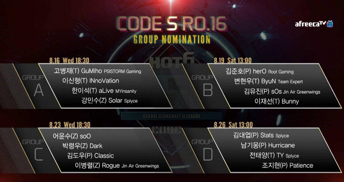 2017 GSL Code S 3. Szezon 2. csoportkör