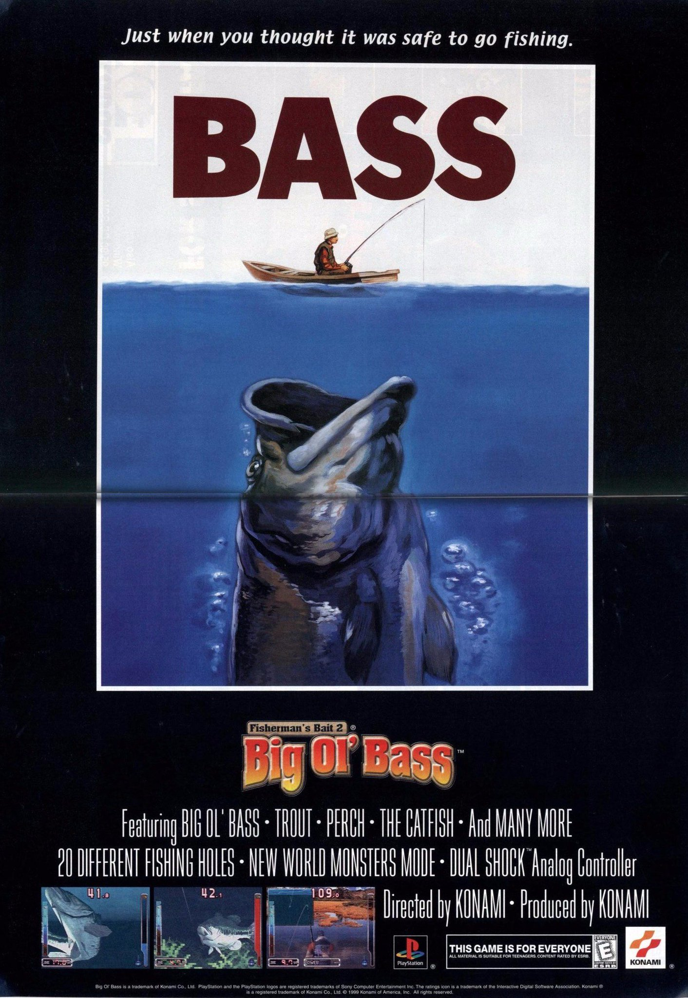 Retro Game Geeks On Twitter Fisherman S Bait 2 Here S The Jaws Inspired North American Ad For The 1999 Ps1 Fishing Game Retrogaming Playstation Fishing 90s Gaming Https T Co Vfqxvullju