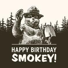 Happy Birthday to our favorite bear, @smokey_bear! Here's to many more birthdays.