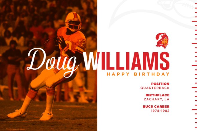 "TBBuccaneers \""Happy Birthday to Ring of Honor member, Doug Williams!"
