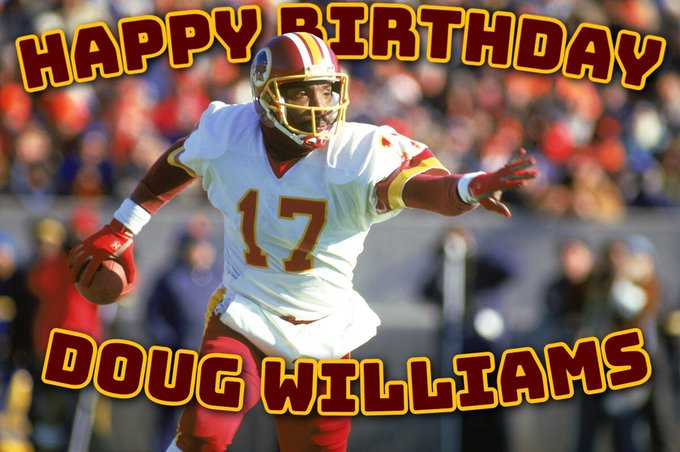 Happy 62nd birthday to Super Bowl XXII MVP & Sr. Vice President of player personnel Doug Williams
