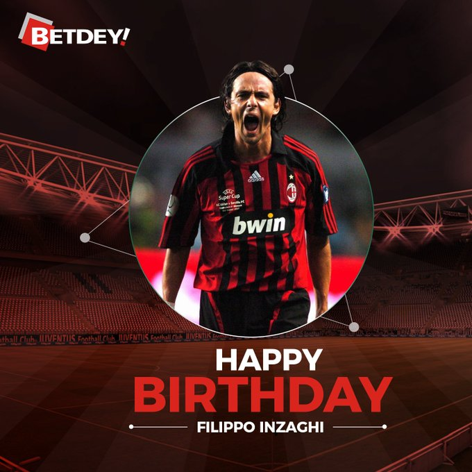Happy Birthday to former AC Milan striker Filippo Inzaghi!