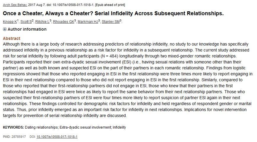 Serial Infidelity