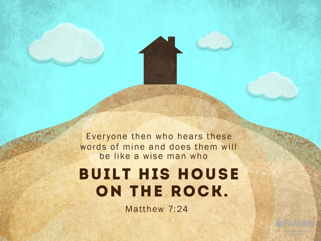 Wise man built his house upon the rock sermon - 0 Replies 0 Retweets 0 Likes