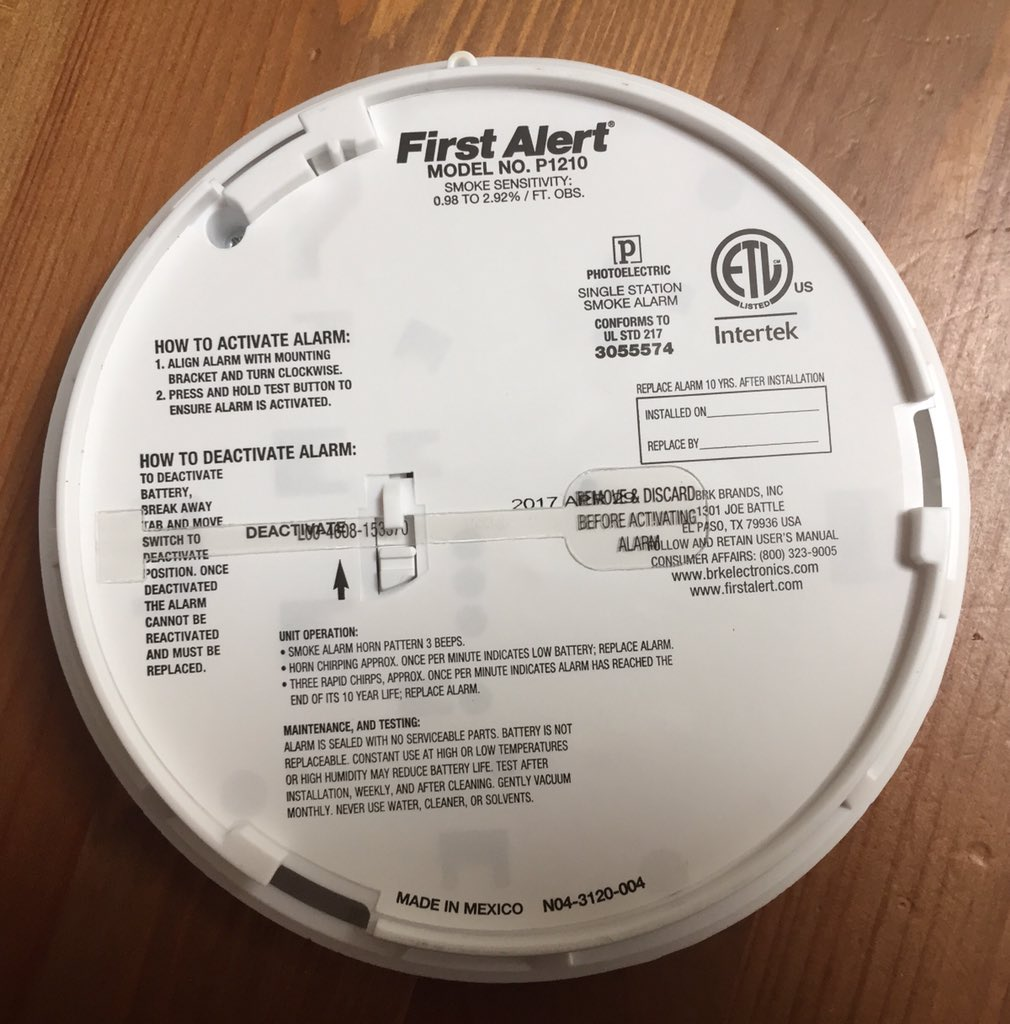 First Alert On Twitter The Unit P1210 Auto Activates Once Mounted Into The Bracket Always Test The Alarm After Installation To Ensure Activation Https T Co 7iwwt6ezbo