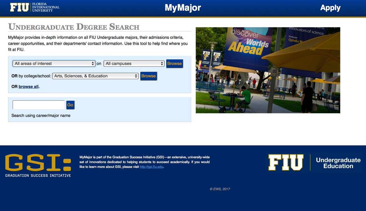 My Major Map Fiu FIU on Twitter: