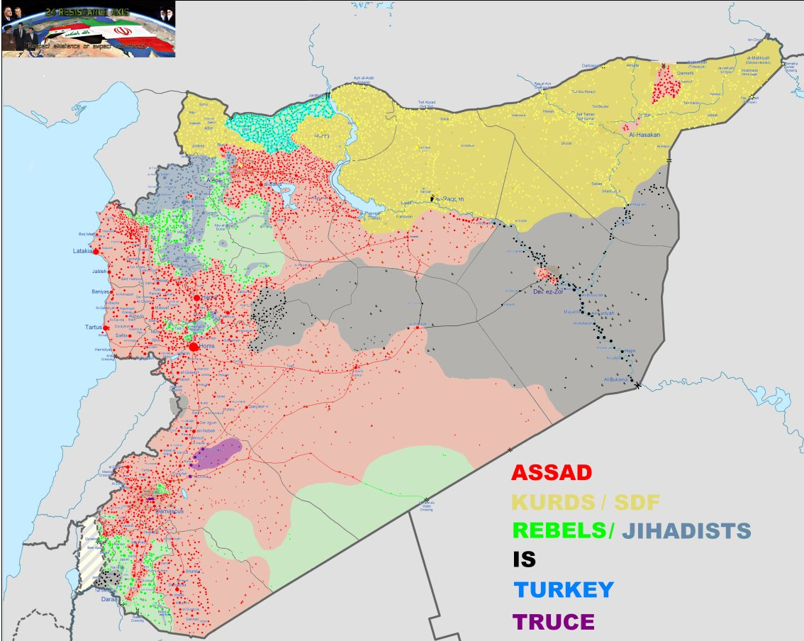 War In Syria On Twitter My Map Of Syria Underlay From - Map of syria