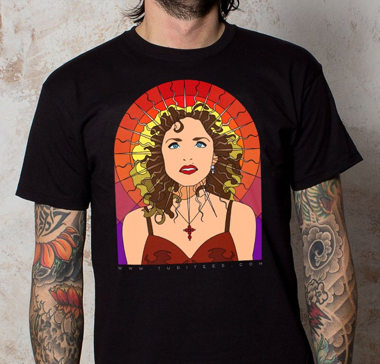 Today is #Madonna&#39;s #birthday and we #celebrate with our #LikeaPrayer #Tshirt:  https://www. tostadora.com/tudi/like_an_i con/383200 &nbsp; …  #HappyBirthdayMadonna<br>http://pic.twitter.com/dd89m1eSye