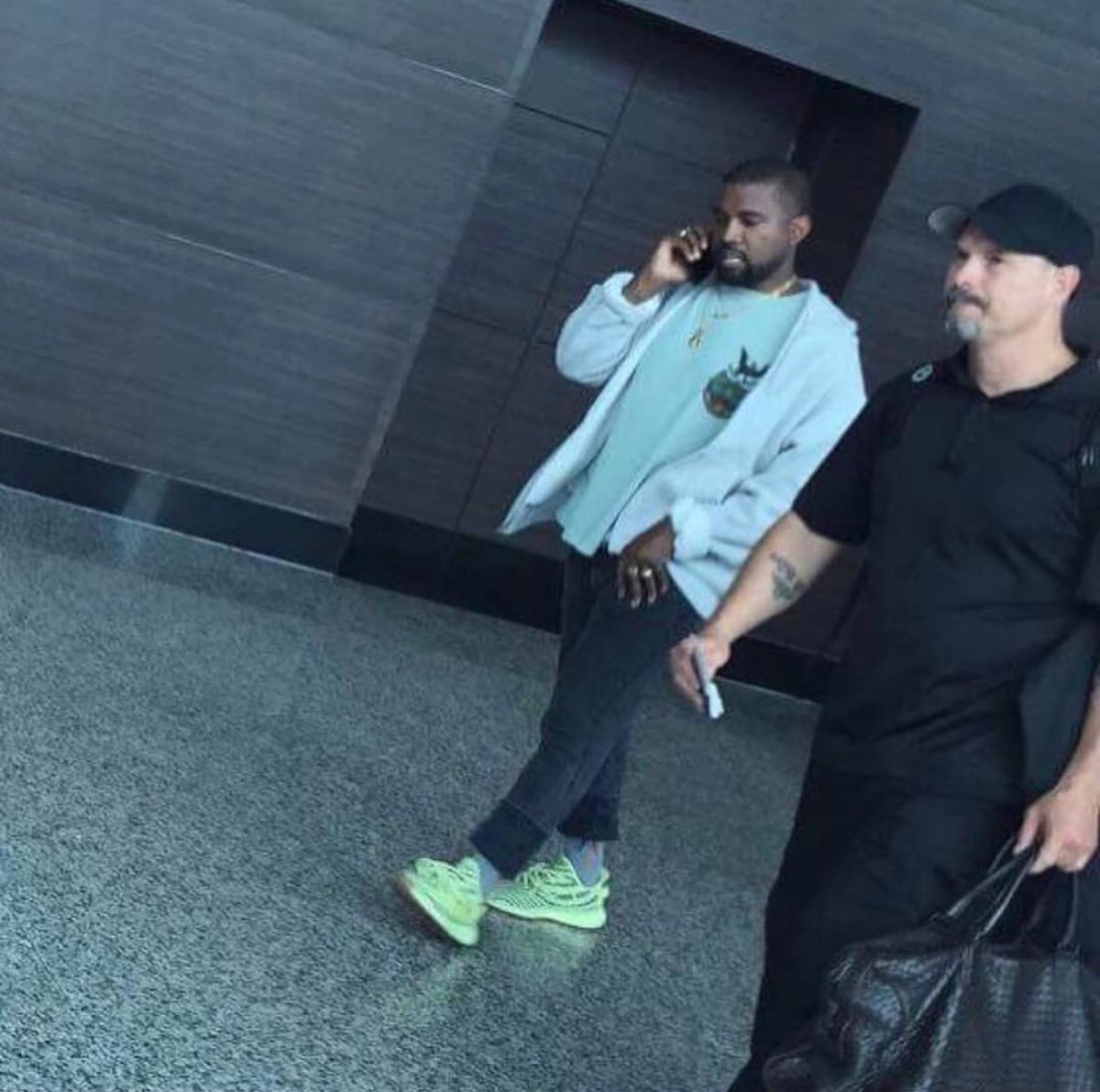 sale retailer f8c57 70f27 kanye spotted in the