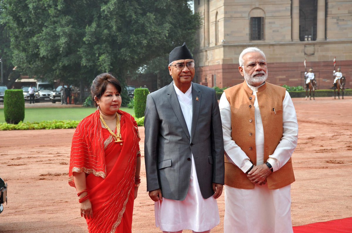 An old trusted friendship As PM Sher Bahadur Deuba arrives on State Visit, look at the close #IndiaNepal relations http://mymea.in/byh pic.twitter.com/ ...
