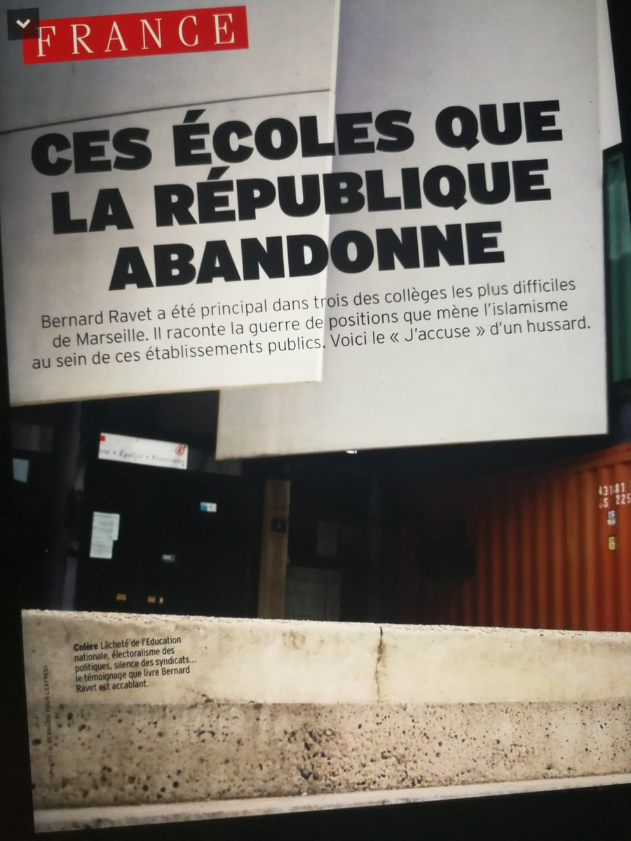 La vraie vie à l' #école de la #République grâce à #bernardravet et @LEXPRESS