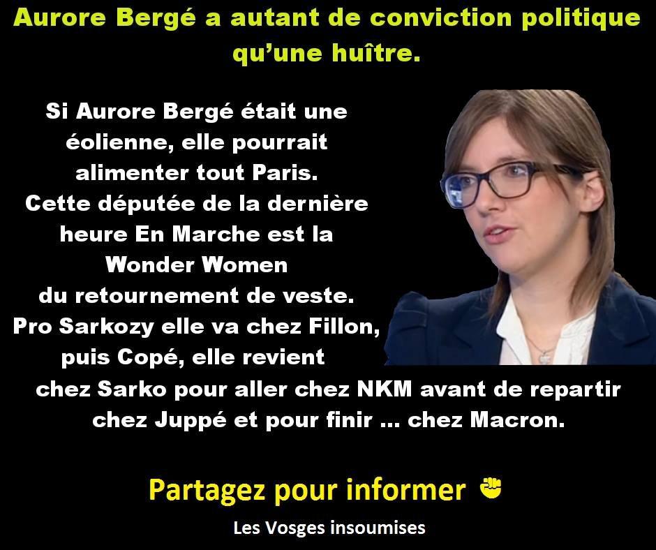 Si Aurore Bergé était une éolienne, elle pourrait alimenter tout Paris .