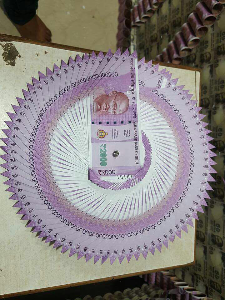Jaya Kumar On Twitter Anil Ambanis Sons Birthday Decorations With Rs 500 And 2000 Notes Now You Understand Why There Is Currency Shortage