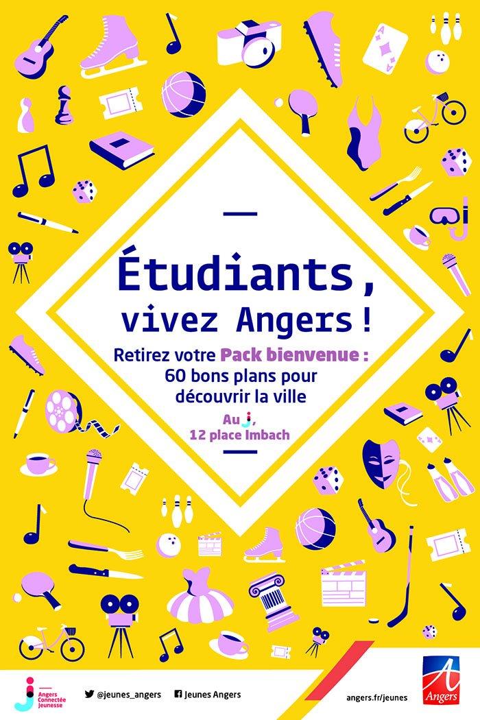 60 bons plans #étudiants à #Angers https://t.co/2efVWEqmD9