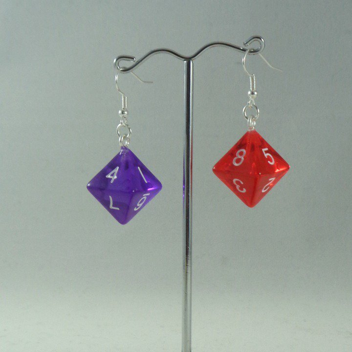 looking for a fun gift for a #gamer friend? #Dice earrings   http://www. etsy.com/uk/mooseinthem int/listing/520783173/dice-earrings-d8-eight-sided-dice &nbsp; …  #earlybiz #mnukteam #craftbuzz #DnD #OnlineCraft #ccc<br>http://pic.twitter.com/d9cCcx329K